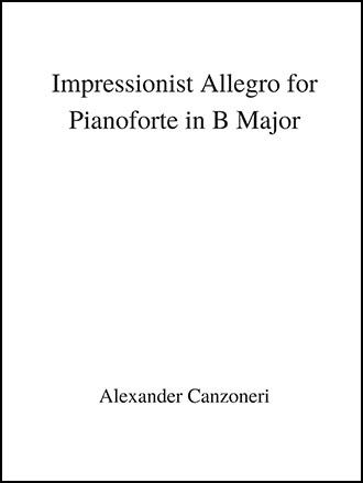 Impressionist Allegro for Pianoforte
