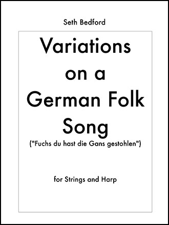 Variations on a German Folk Song