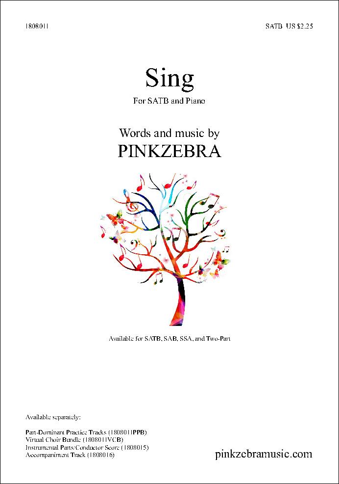 Sing myscore sheet music cover