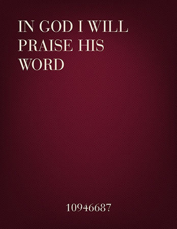 In God I Will Praise His Word