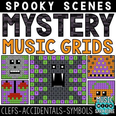 Spooky Mystery Music Grids - Symbols