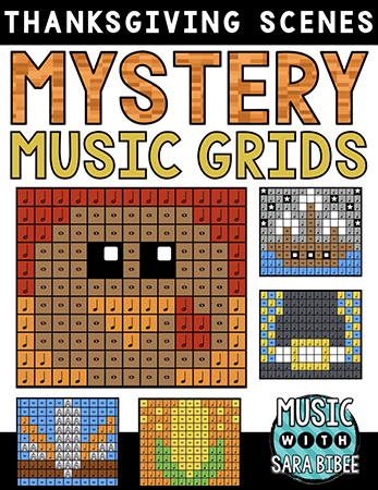 Thanksgiving Mystery Music Grids