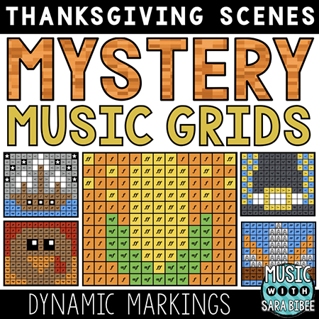 Thanksgiving Mystery Music Grids - Dynamics