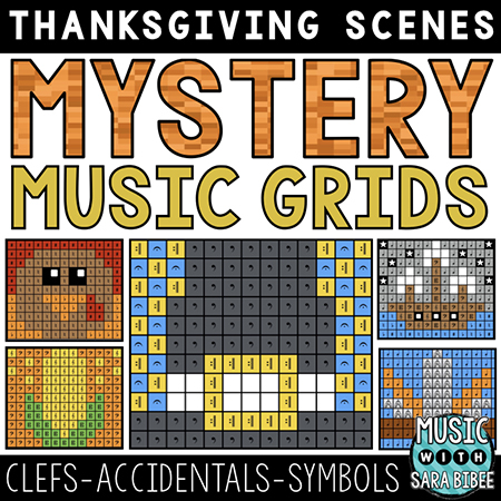 Thanksgiving Mystery Music Grids - Symbols