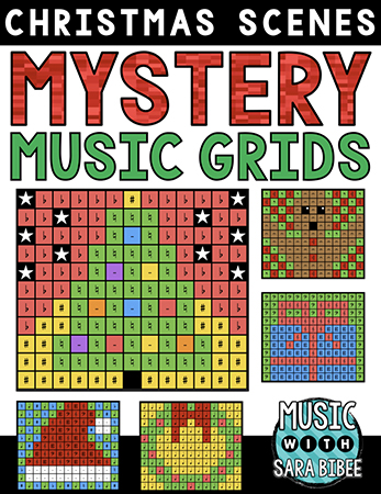 Christmas Mystery Music Grids classroom sheet music cover