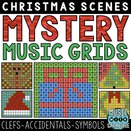 Christmas Mystery Music Grids
