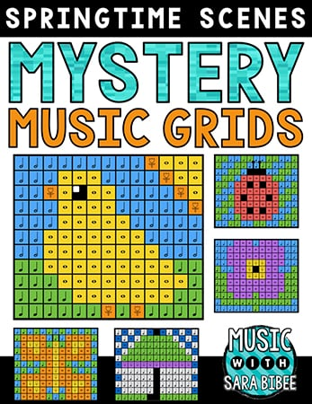 Spring Mystery Music Grids - Bundle