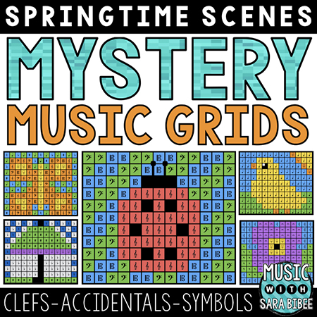 Spring Mystery Music Grids - Symbols
