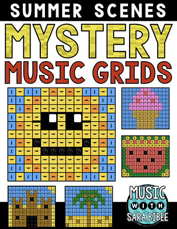 Summer Mystery Music Grids - Bundle