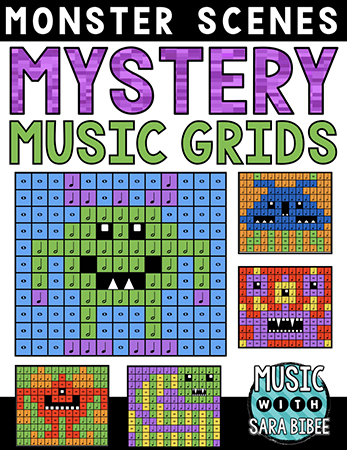 Monster Mystery Music Grids - Bundle