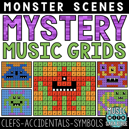 Monster Mystery Music Grids - Symbols