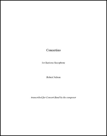 Concertino for Baritone Saxophone and Concert Band