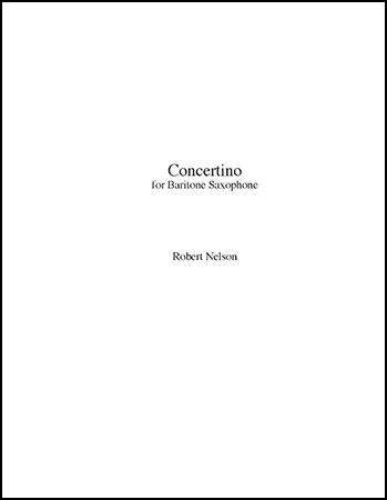 Concertino for Baritone Saxophone and Orchestra