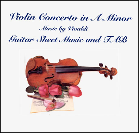 Violin Concerto in A Minor Guitar TAB