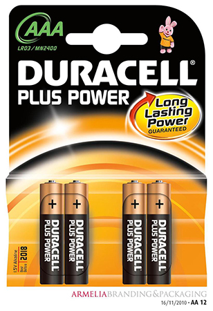 Duracell Plus Batteries Cover