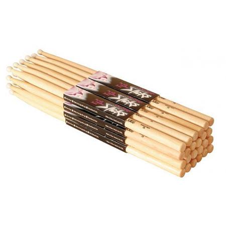 On Stage Maple Drum Sticks, 12 Pair Nylon Tip