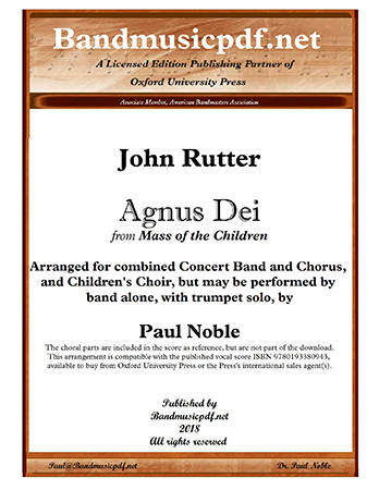 Agnus Dei (from Mass of the Children)