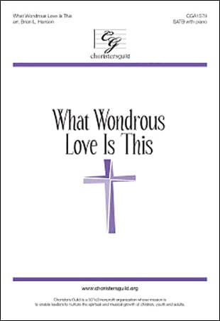 What Wondrous Love is This church choir sheet music cover