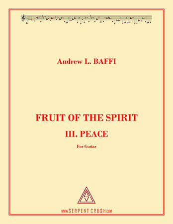 Fruit of the Spirit: III. Peace