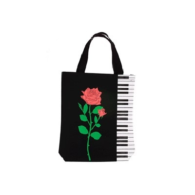 Keyboard with Rose Tote Bag