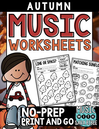 Music Worksheets for Autumn