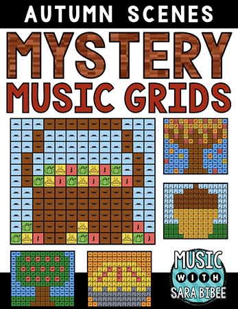 Autumn Mystery Music Grids - Bundle