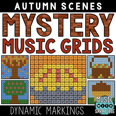 Autumn Mystery Music Grids - Dynamics