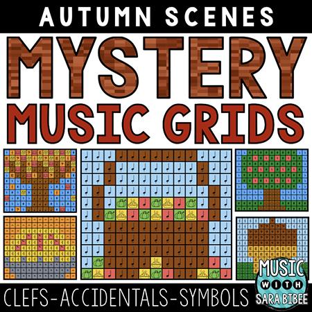 Autumn Mystery Music Grids - Symbols