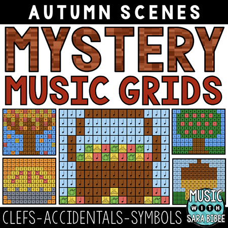 Autumn Mystery Music Grids - Symbols
