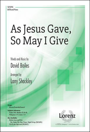 As Jesus Gave, So May I Give
