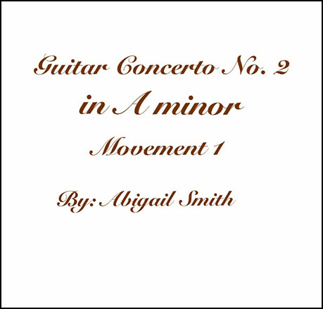 Guitar Concerto No. 2 in A minor
