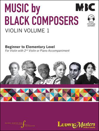 Music by Black Composers, Violin Volume 1 Cover