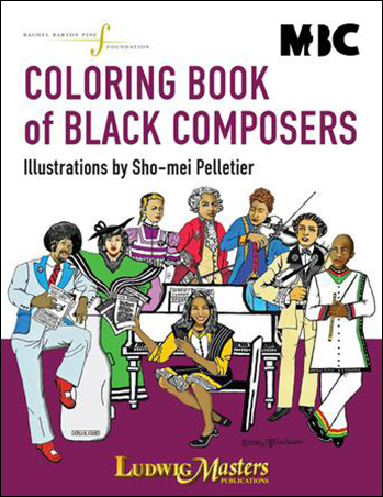 Coloring Book of Black Composers Cover