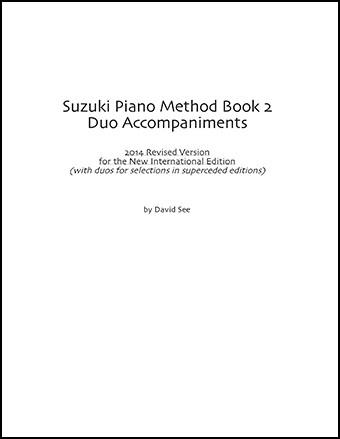Second Piano Accompaniments for the Suzuki Piano Method Volume 2