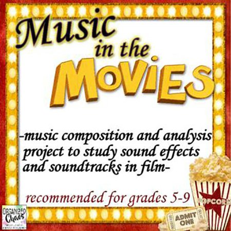 Movie Music Composition Project classroom sheet music cover