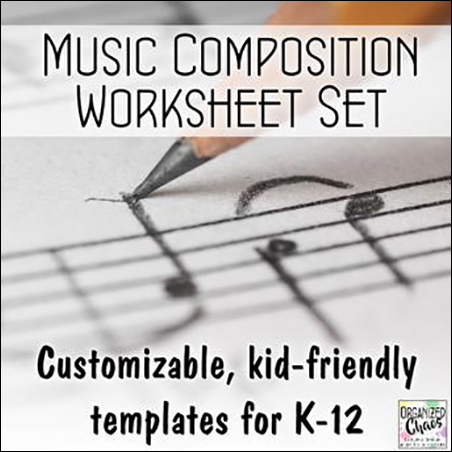 Music Composition Worksheet Set