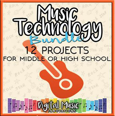 Music Technology Curriculum: 12 Project Ideas for Middle or High School classroom sheet music cover