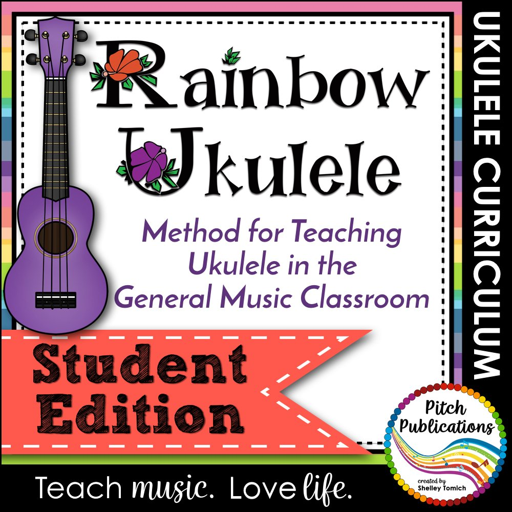 Rainbow Ukulele Curriculum classroom sheet music cover