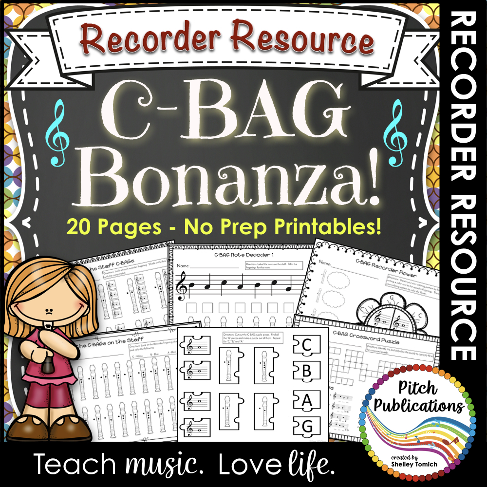 Recorder Bonanza: Worksheets to Practice CBAG