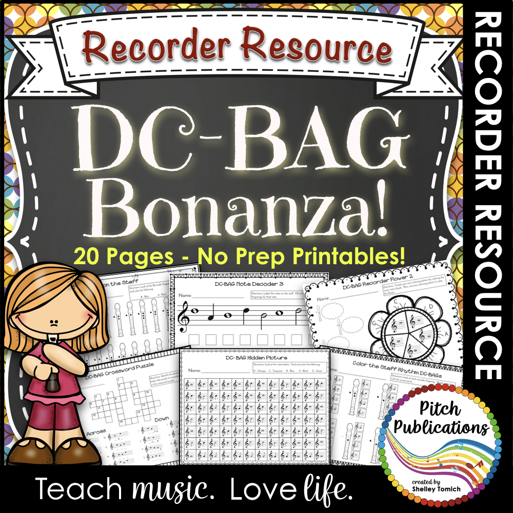 Recorder Bonanza: Worksheets to Practice DCBAG