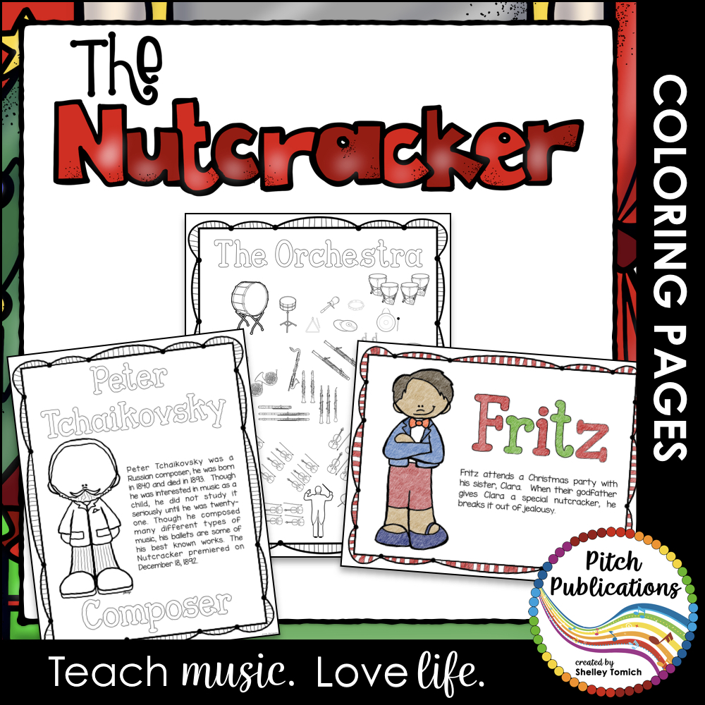 The Nutcracker: Educational Coloring Pages