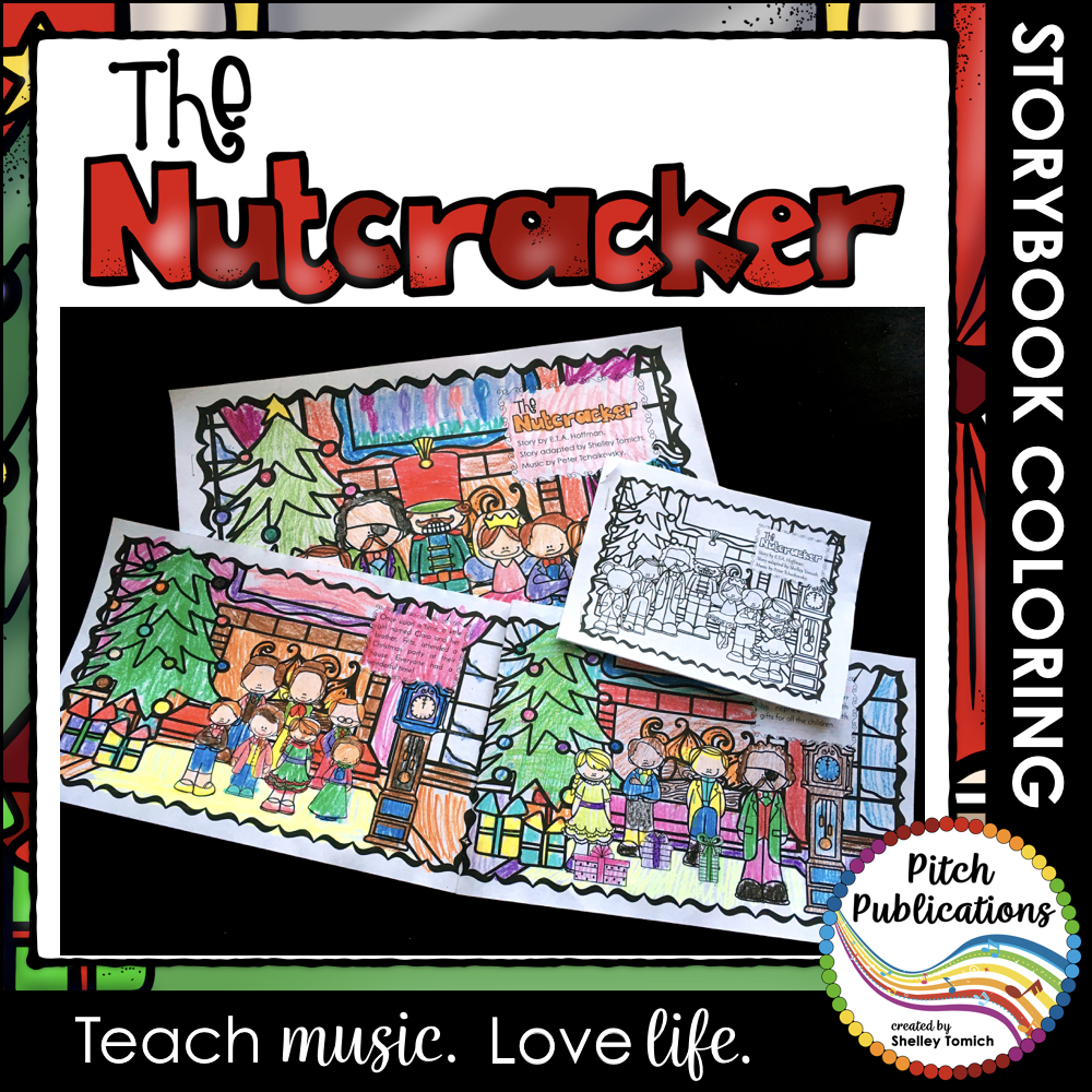 The Nutcracker: Educational Coloring Storybook