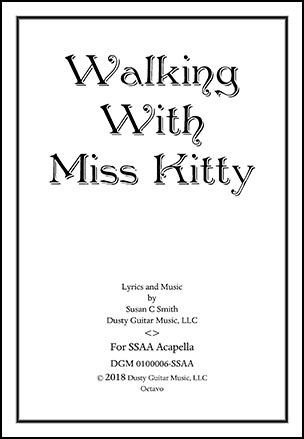 Walking with Miss Kitty
