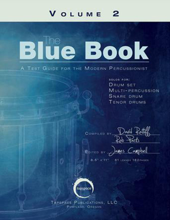 The Blue Book: A Test Guide for the Modern Percussionist Cover