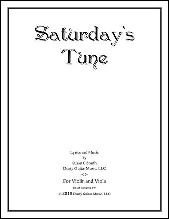 Saturday's Tune, for Violin and Viola