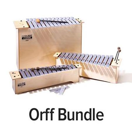 Orff Nine-Instrument Bundle - Global Beat Series with Fiberglass Bars