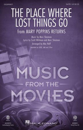The Place Where Lost Things Go choral sheet music cover