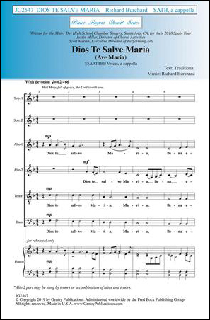 Dios Te Salve Maria community sheet music cover