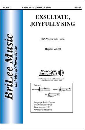 Exsultate, Joyfully Sing
