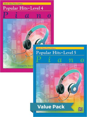 Alfred's Basic Piano Library: Popular Hits, Level 4-5, Value Pack